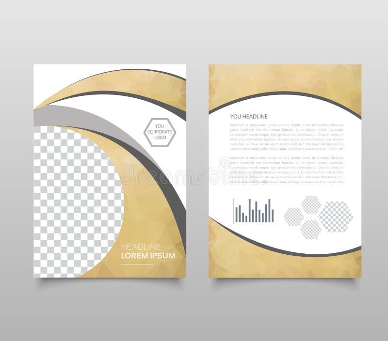 Plantilla moderna de la presentación del triángulo Concepto del fondo, del folleto o del aviador del diseño de negocio libre illustration