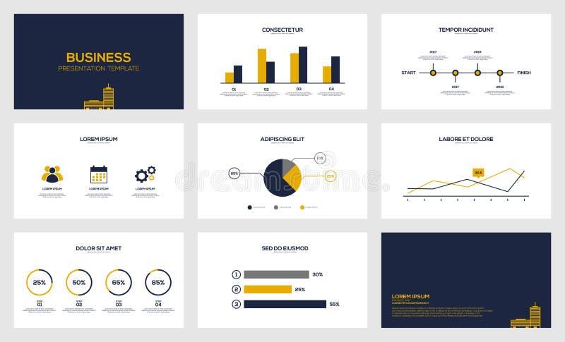 Plantilla moderna de la presentación de la visualización de los datos de negocio libre illustration