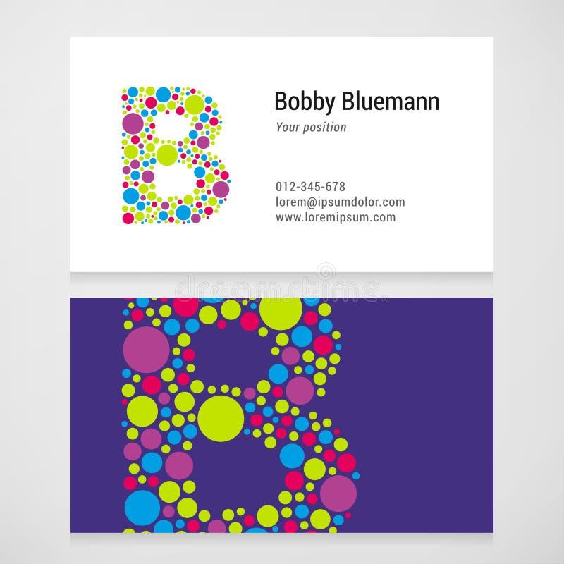Plantilla moderna de la tarjeta de visita del círculo de la letra B libre illustration