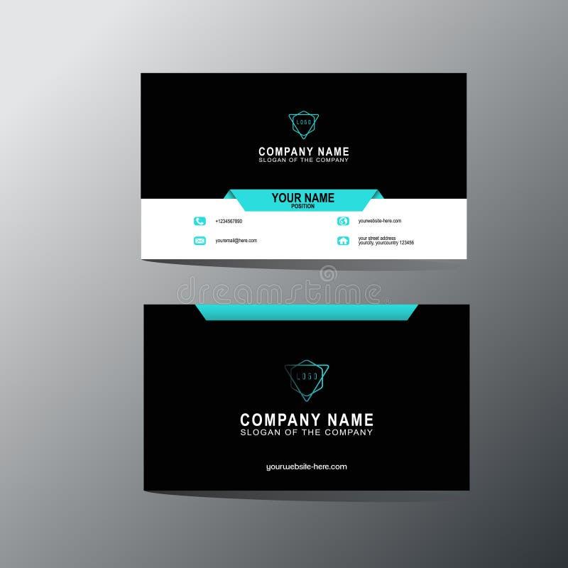 Plantilla moderna de la tarjeta de visita, fondo, vector, ejemplo, diseño abstracto para la compañía y uso individual stock de ilustración