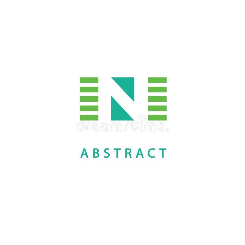 Plantilla moderna de los elementos del diseño del monograma Diseño elegante del logotipo de Geomeric Línea monograma del logotipo stock de ilustración