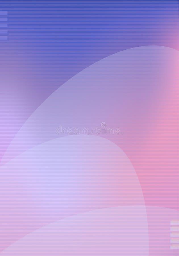 Plantilla moderna de moda del fondo con las líneas colores violetas azules del rosa de la pendiente y flujo abstracto de las form stock de ilustración