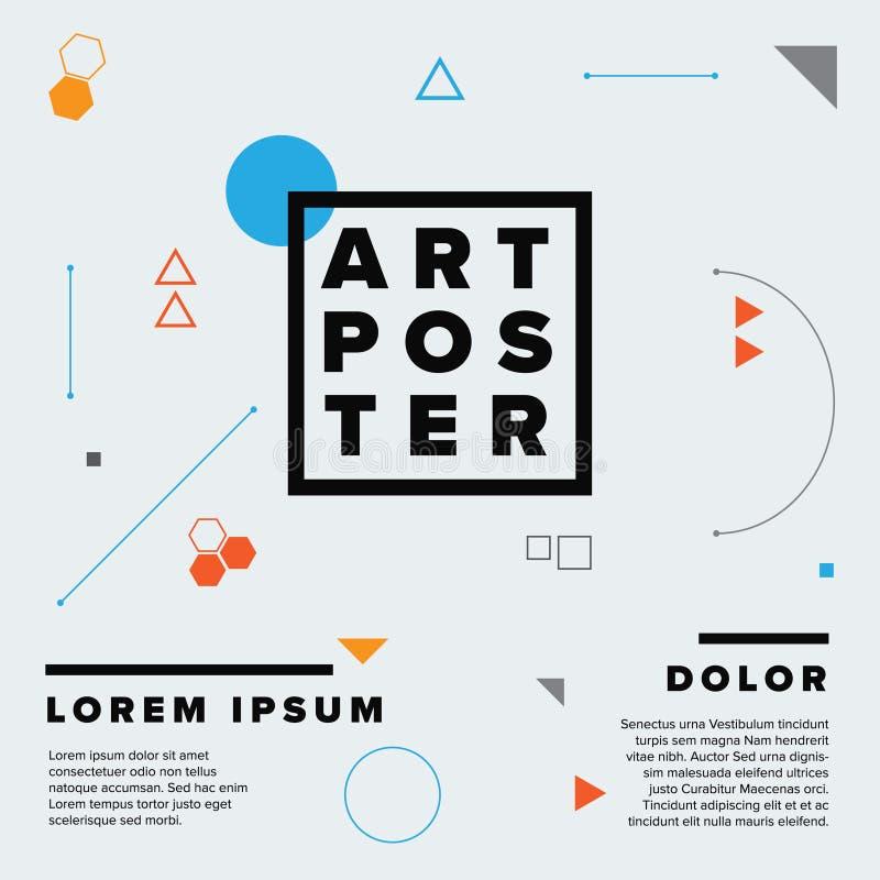 Plantilla moderna del cartel del arte de la geometría ilustración del vector