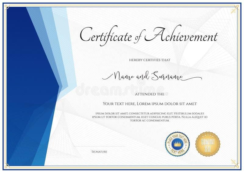 Plantilla Moderna Del Certificado Para El Logro, Aprecio, Parti ...
