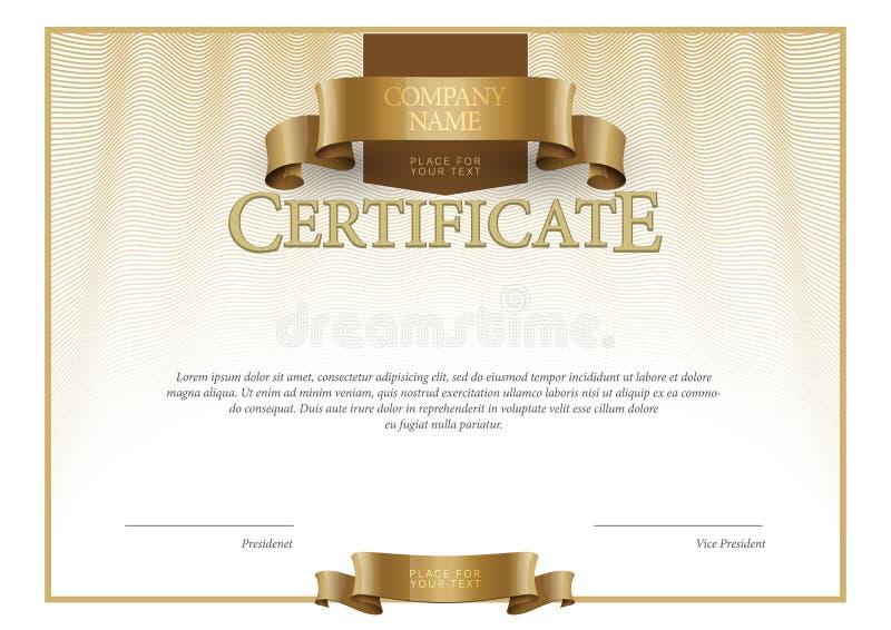 Plantilla moderna del certificado y de los diplomas Vector stock de ilustración