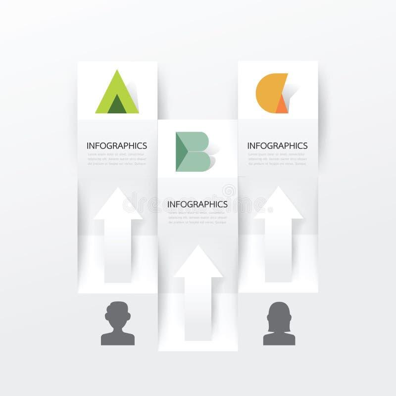 Plantilla moderna del diseño de la bandera de Infographic Ilustración del vector ilustración del vector