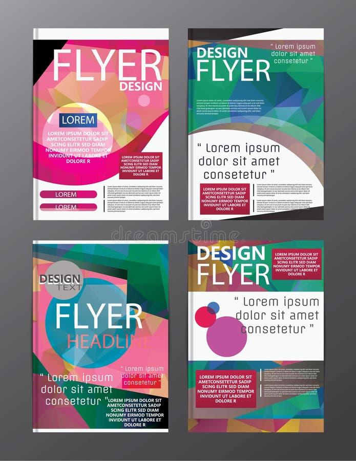 Plantilla moderna del diseño de la disposición del folleto del polígono Cov del prospecto del aviador ilustración del vector