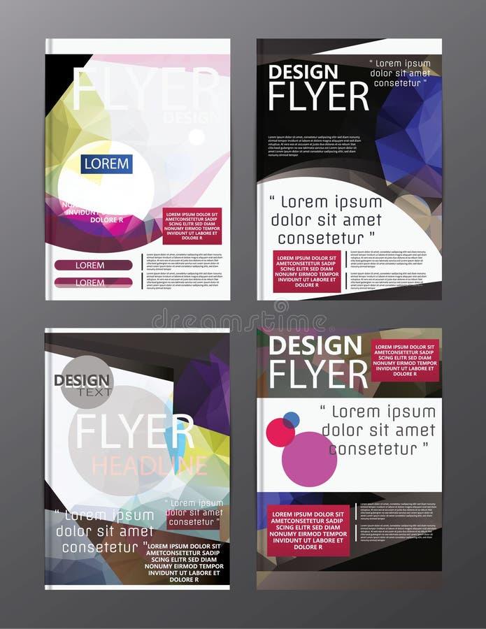 Plantilla moderna del diseño de la disposición del folleto del polígono Cov del prospecto del aviador libre illustration