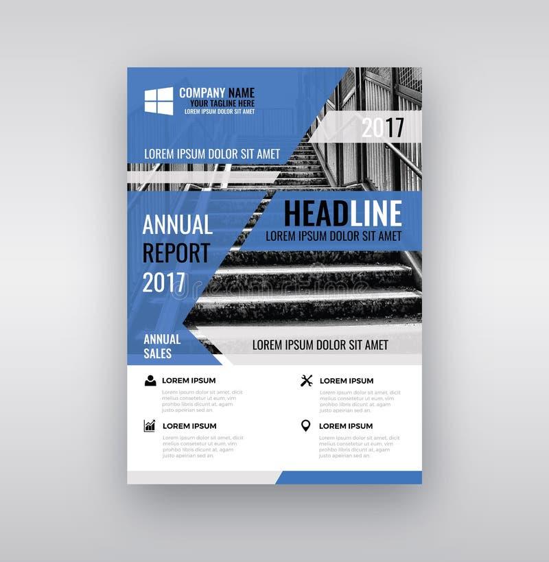 Plantilla moderna del diseño del folleto/del aviador foto de archivo libre de regalías