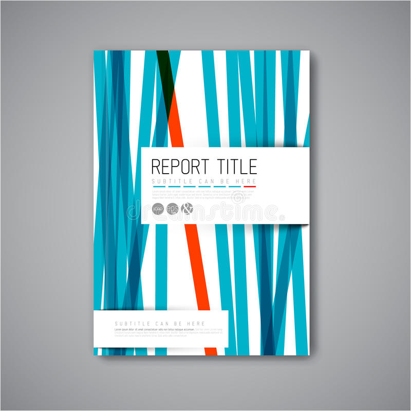 Plantilla moderna del diseño del folleto del extracto del vector libre illustration
