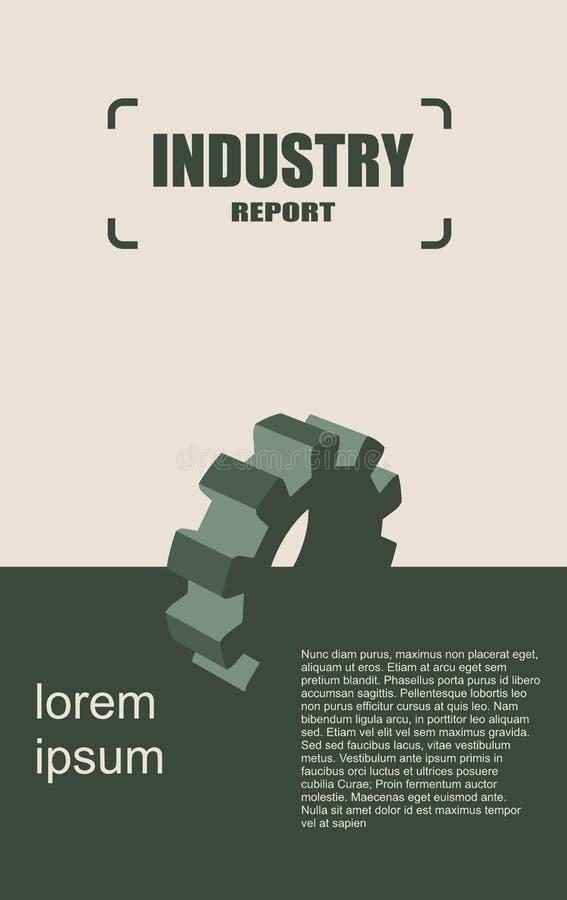 Plantilla moderna del diseño del folleto del vector Tema del pariente de la industria ilustración del vector