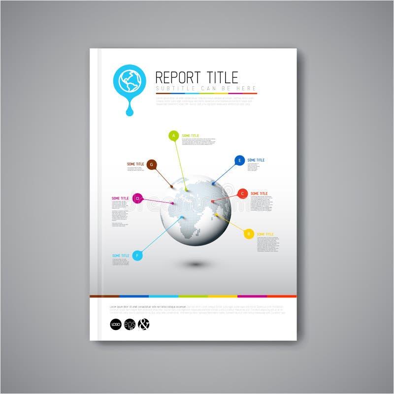 Plantilla moderna del diseño del informe del folleto del extracto del vector ilustración del vector