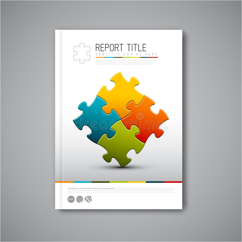 Plantilla moderna del diseño del informe del folleto del extracto del vector stock de ilustración