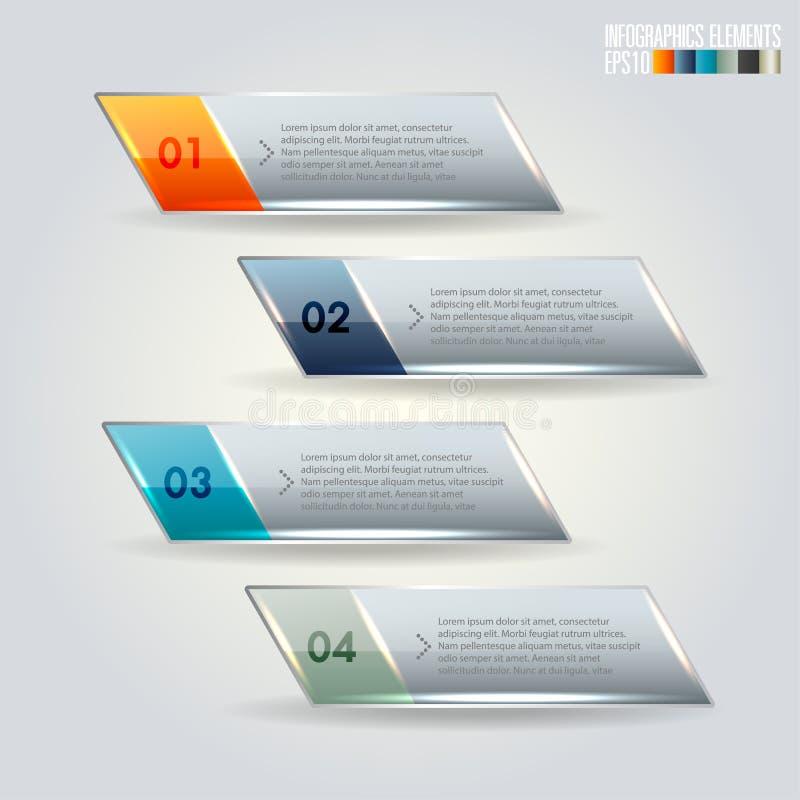 Plantilla moderna del infographics stock de ilustración