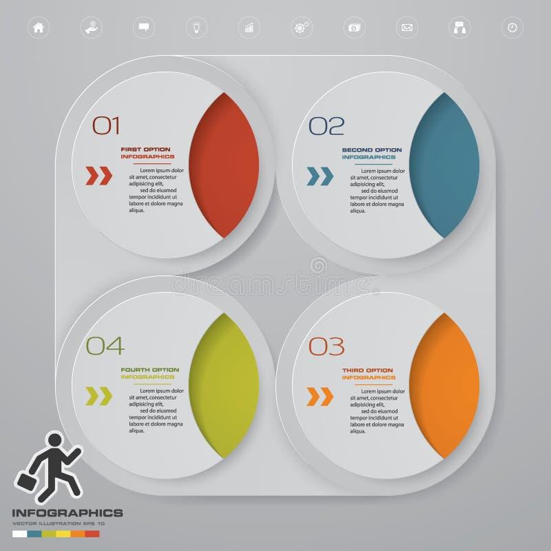 Plantilla moderna del infographics del negocio de la presentación de 4 opciones EPS 10 libre illustration