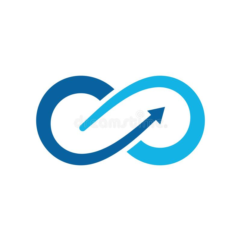 Plantilla moderna del logotipo de los iconos del símbolo del infinito libre illustration