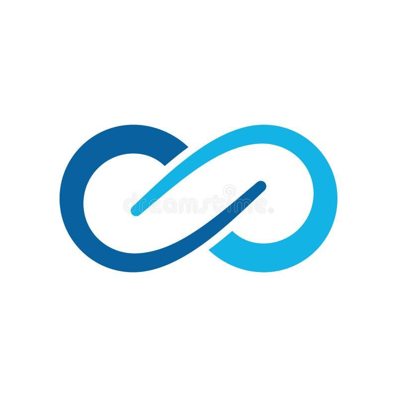 Plantilla moderna del logotipo de los iconos del símbolo del infinito stock de ilustración