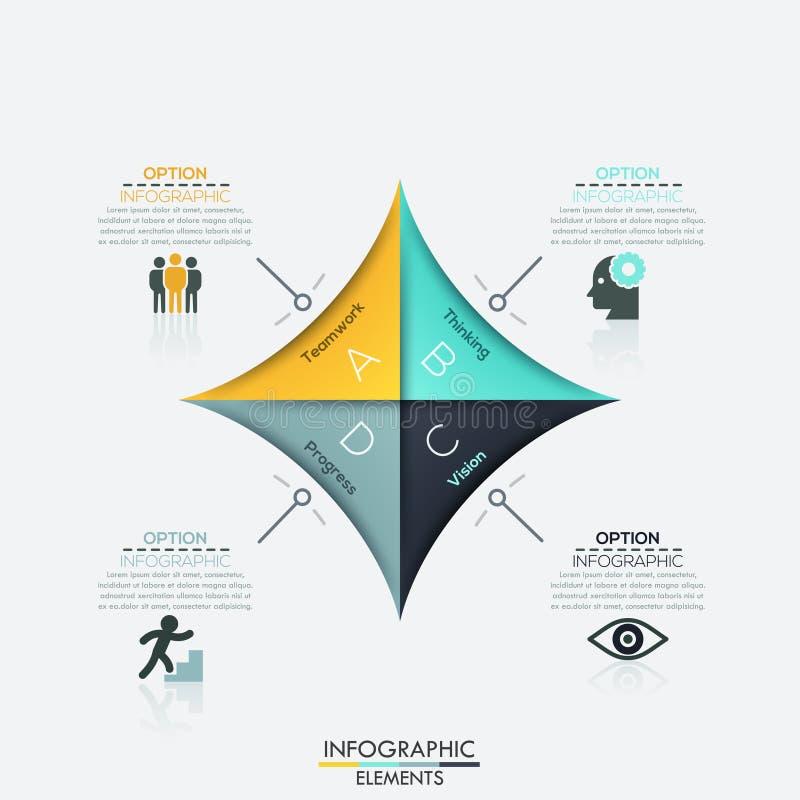 Plantilla moderna del negocio de la flecha ilustración del vector