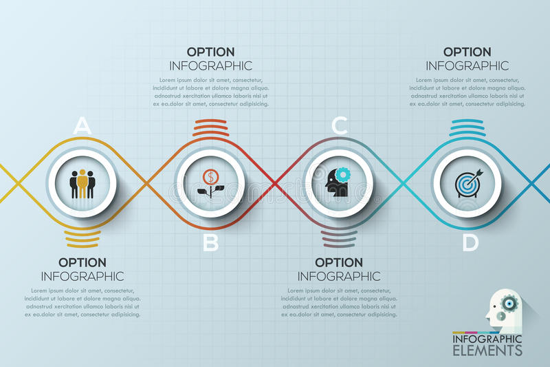 Plantilla moderna del negocio del círculo Ilustración del vector stock de ilustración