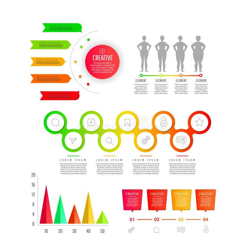 Plantilla moderna del negocio para la presentación, el diseño web, las banderas y los carteles stock de ilustración