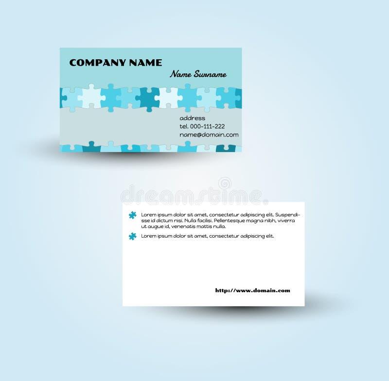 Plantilla moderna del vector de la tarjeta de visita stock de ilustración