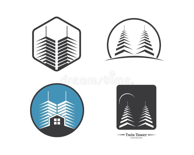 plantilla moderna del vector del edificio de la ciudad de las propiedades inmobiliarias libre illustration