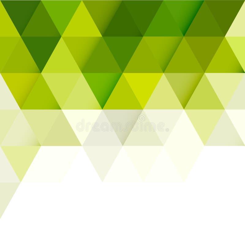 Plantilla moderna geométrica de la pendiente verde abstracta para la presentación del negocio o de la tecnología libre illustration