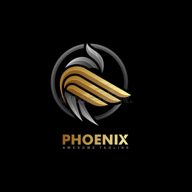 Plantilla multicolora del vector del ejemplo del concepto de Phoenix ilustración del vector
