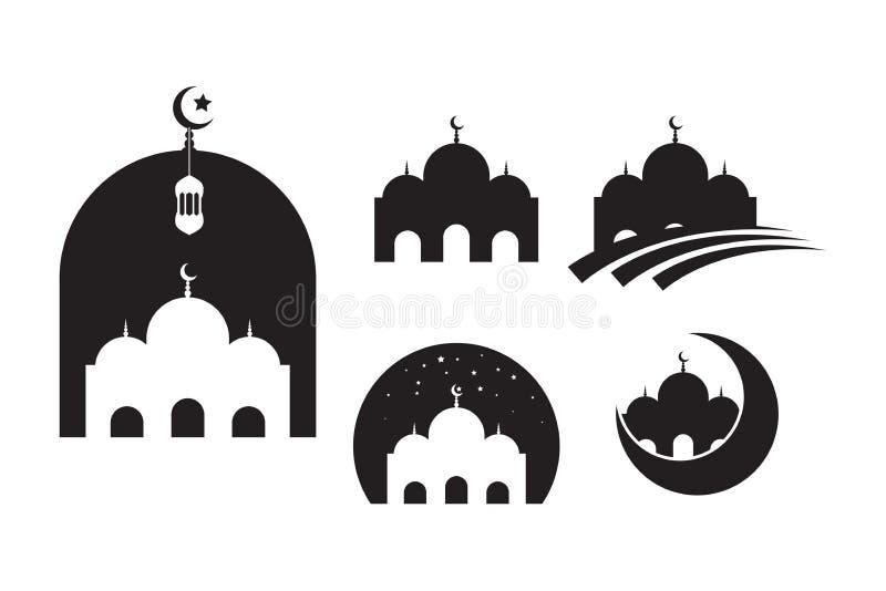 Plantilla musulm?n del dise?o del ejemplo del vector del icono de la mezquita ilustración del vector