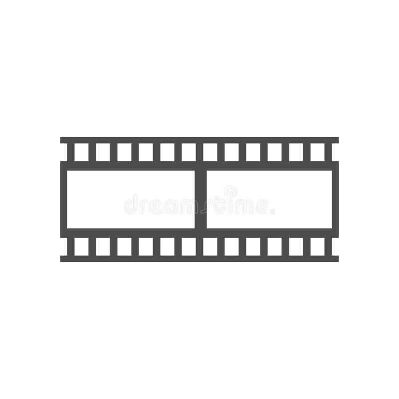Plantilla negra del vector de la cinta de la tira de la película libre illustration
