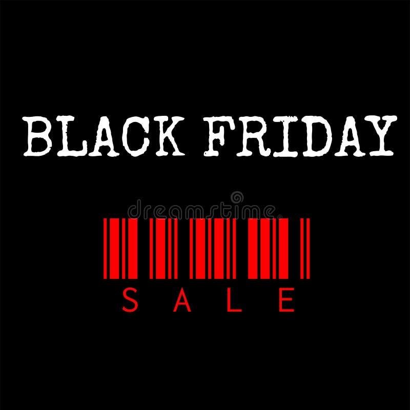Plantilla negra del vector de la venta de viernes, diseño de Black Friday imagen de archivo libre de regalías