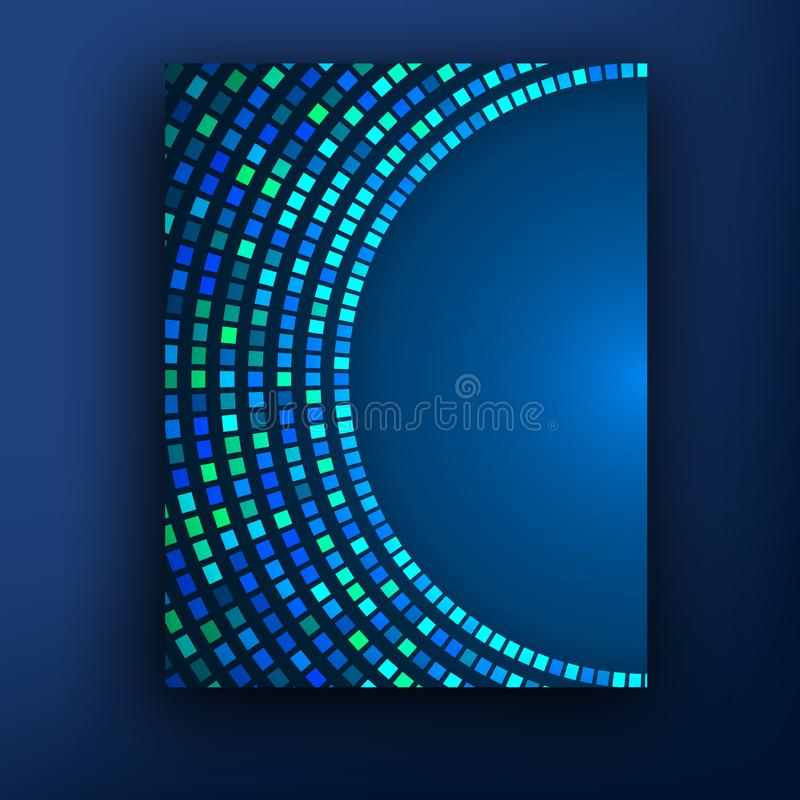 Plantilla o bandera del diseño de negocio del folleto Fondo abstracto del vector ilustración del vector