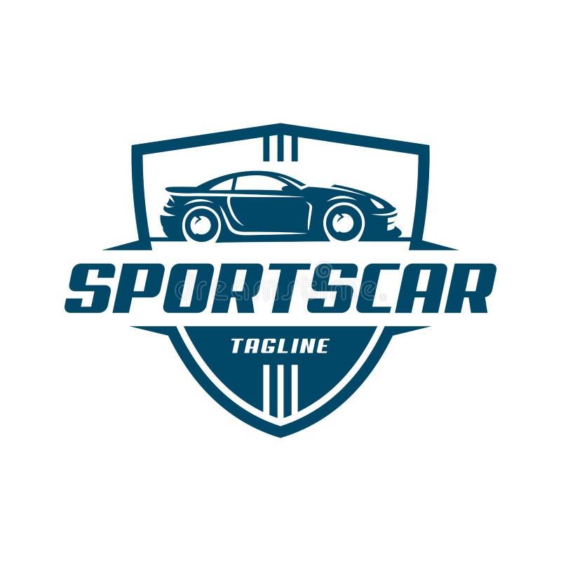 Plantilla o icono del logotipo del coche de deportes stock de ilustración