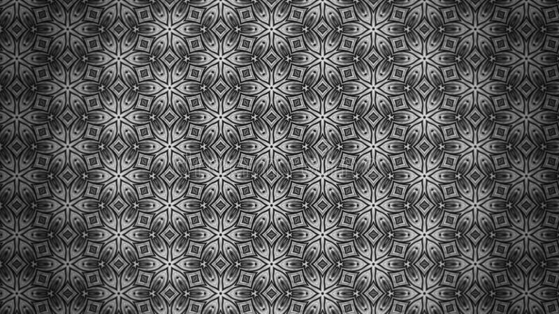 Plantilla oscura de Gray Decorative Floral Pattern Background libre illustration