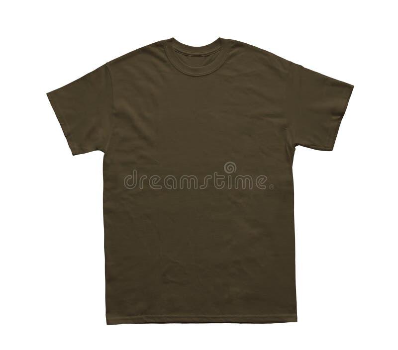 Plantilla oscura del chocolate del color en blanco de la camiseta imagenes de archivo