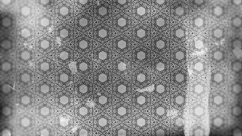 Plantilla oscura del diseño de Grey Vintage Floral Pattern Wallpaper stock de ilustración