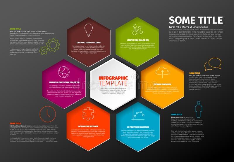 Plantilla Oscura Del Informe De Infographic Del Minimalist Con ...