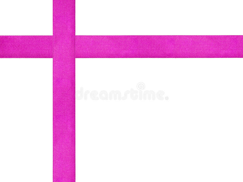 Plantilla púrpura de la cruz de la cinta aislada foto de archivo libre de regalías