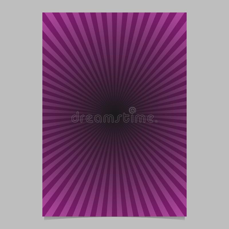 Plantilla púrpura del folleto de la explosión del sol - fondo de la página del vector de la pendiente libre illustration
