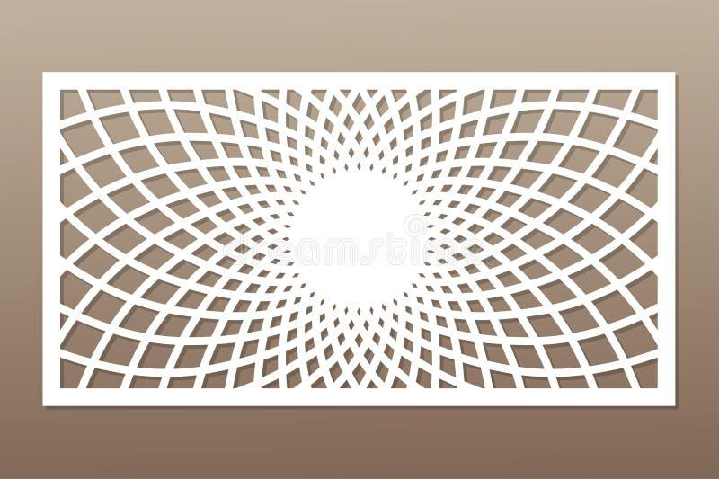 Plantilla para cortar Mandala, modelo del Arabesque Corte del laser rata ilustración del vector