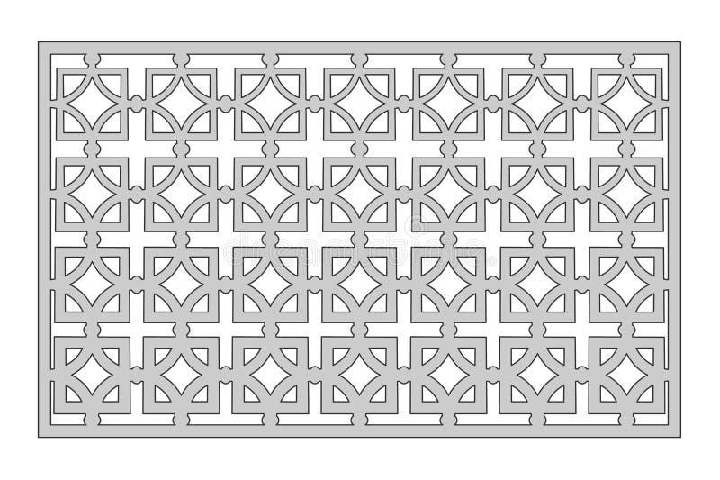 Plantilla para cortar Modelo cuadrado de la repetición Corte del laser 1:2 del ratio stock de ilustración