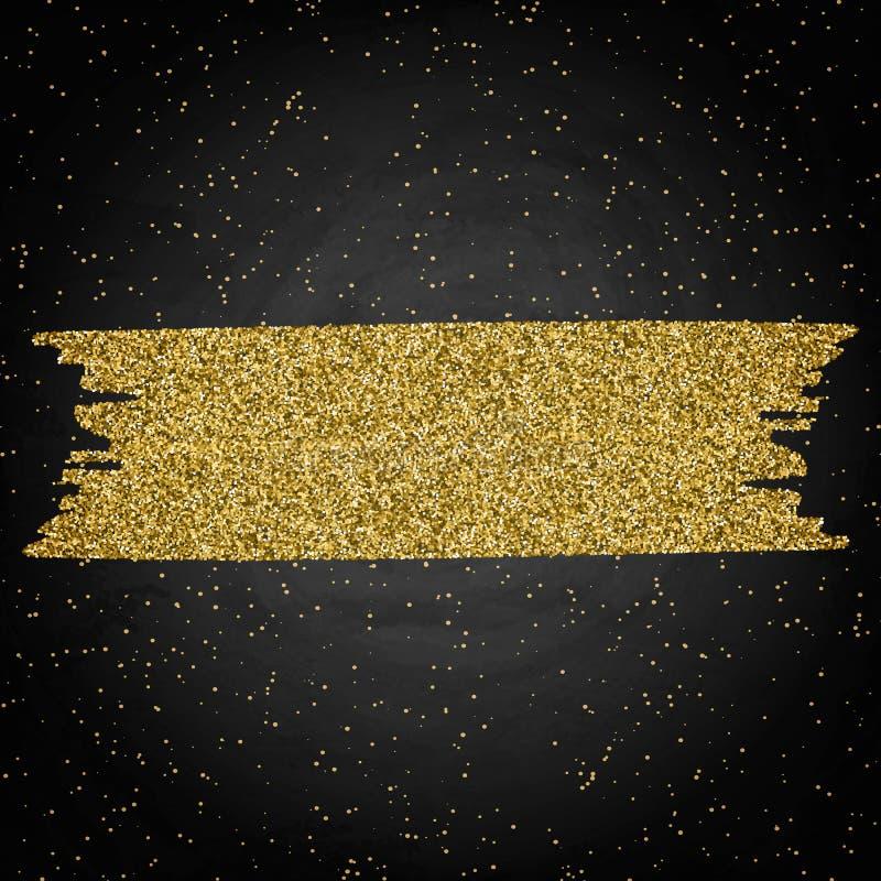 Plantilla para la tarjeta de la oferta del saludo del negocio Marco brillante del oro encendido foto de archivo libre de regalías