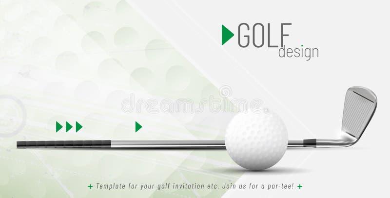 Plantilla para su diseño del golf con el texto de la muestra ilustración del vector