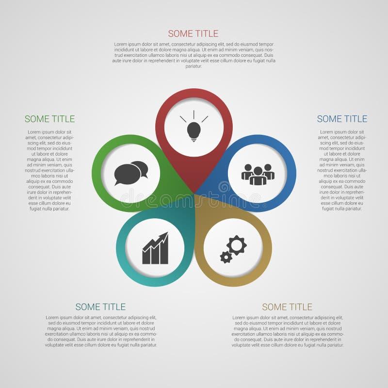 Plantilla para su presentación del negocio (gráfico de la información) stock de ilustración