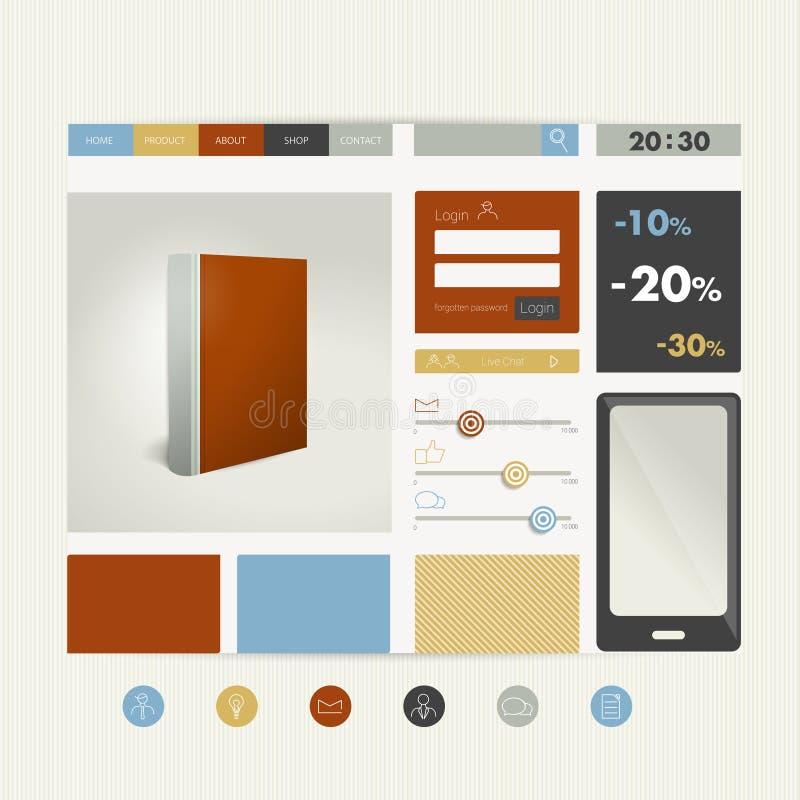 Download Plantilla Plana Del Diseño Del Sitio Web Ilustración del Vector - Ilustración de concepto, creativo: 42443576