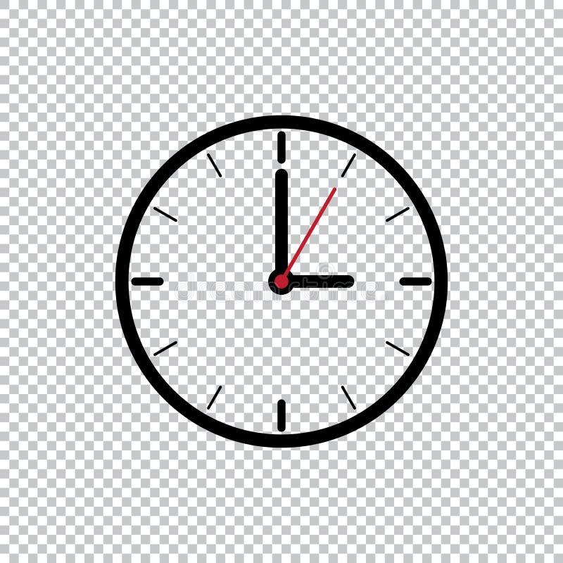 Plantilla plana del icono del estilo de tres en punto aislada en el fondo transparente, ejemplo negro del vector del icono del re libre illustration