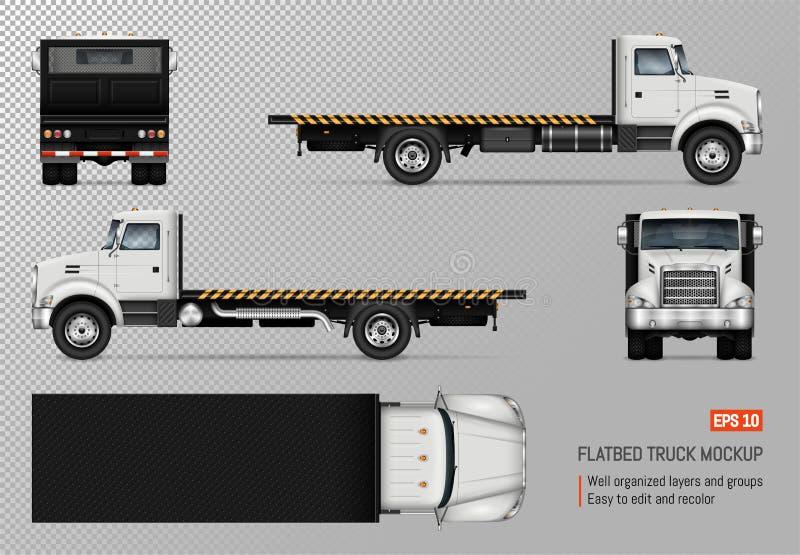 Plantilla plana del vector del camión libre illustration