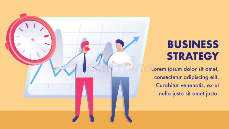 Plantilla plana del vector de la bandera del plan del éxito empresarial stock de ilustración