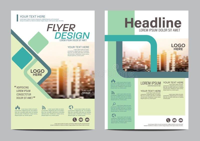Plantilla plana moderna del diseño de la disposición del folleto Fondo moderno de la presentación de la cubierta del prospecto de ilustración del vector