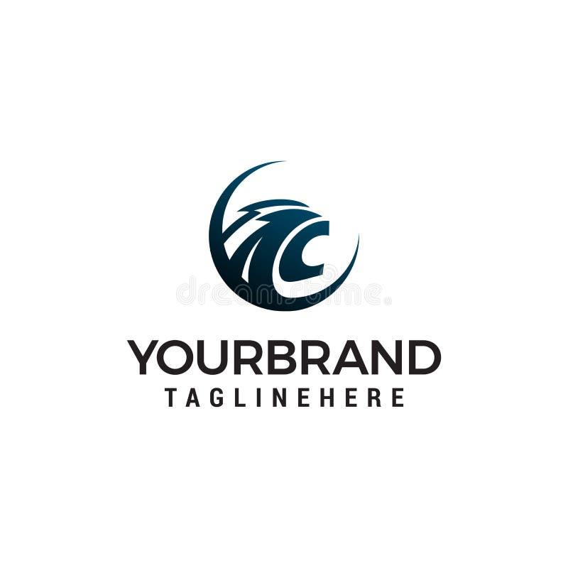 Plantilla principal del concepto de diseño del logotipo de la pantera stock de ilustración